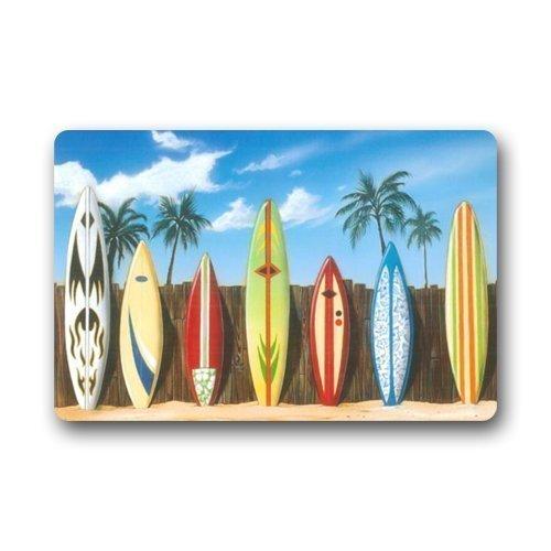 Mr Six Beach Surfboard Indoor Outdoor Doormat Door Mat