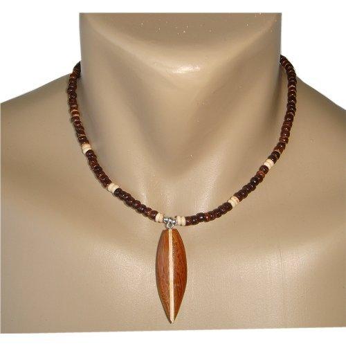 Koa Wood Surfboard Necklace
