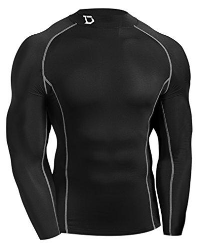 Defender new men 39 s thermal compression workout mock shirts for Shirts and skins basketball