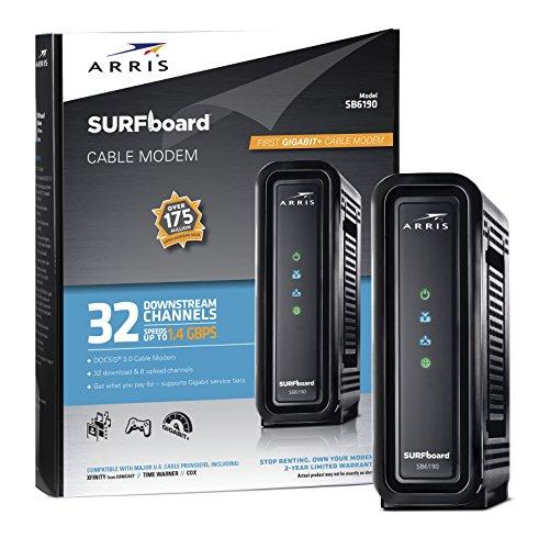 Arris Surfboard Sb6190 Blk Docsis 3 0 Cable Modem Retail