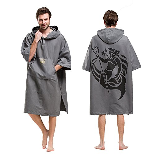 Hiturbo Wetsuit Changing Robe Towel Poncho With Hood